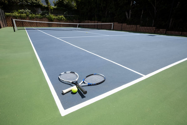 A client of ours wanted a tennis court installed on their property. We chose concrete as the base for the court.