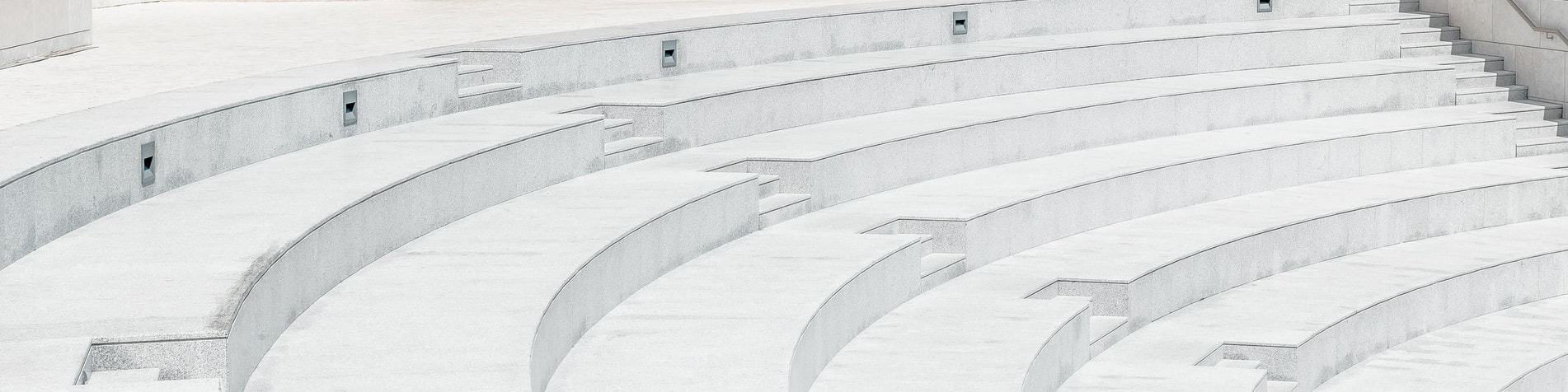 Curved concrete stairs that were installed for a park in the city of Burnaby.